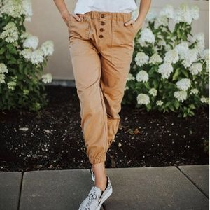 NWT! Free People Brown Cadet Joggers Medium